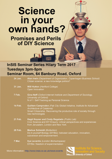 Science in your own hands? Promises and perils of DIY science